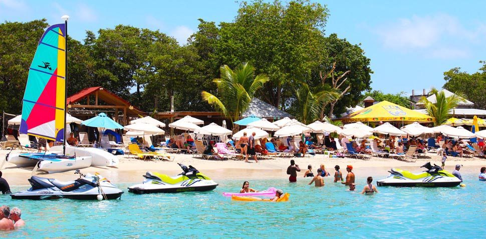 Shore excursions available with St.Kitts Water Sports at Reggae Beach Bar